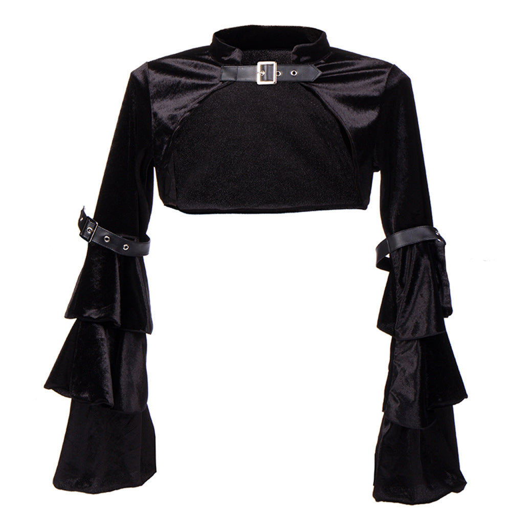 Bestkawaii-Long-Puff-Sleeve-Capelet-Top