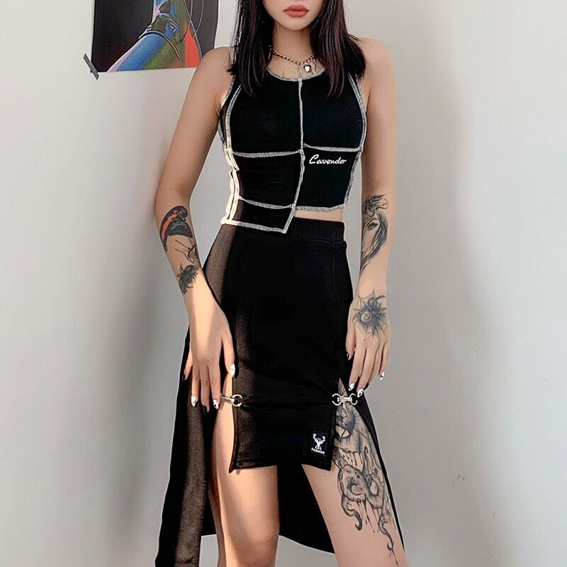 Bestkawaii-Metal-Clasp-Irregular-Split-Skirts