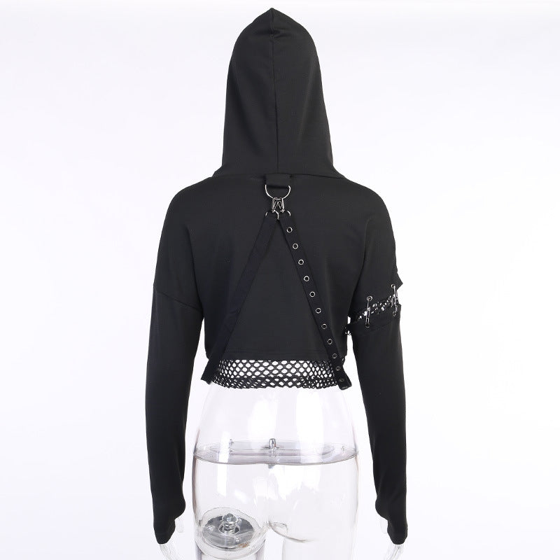 Bestkawaii-Punk-Hollow-Out-Lace-Up-Top-Hoodie