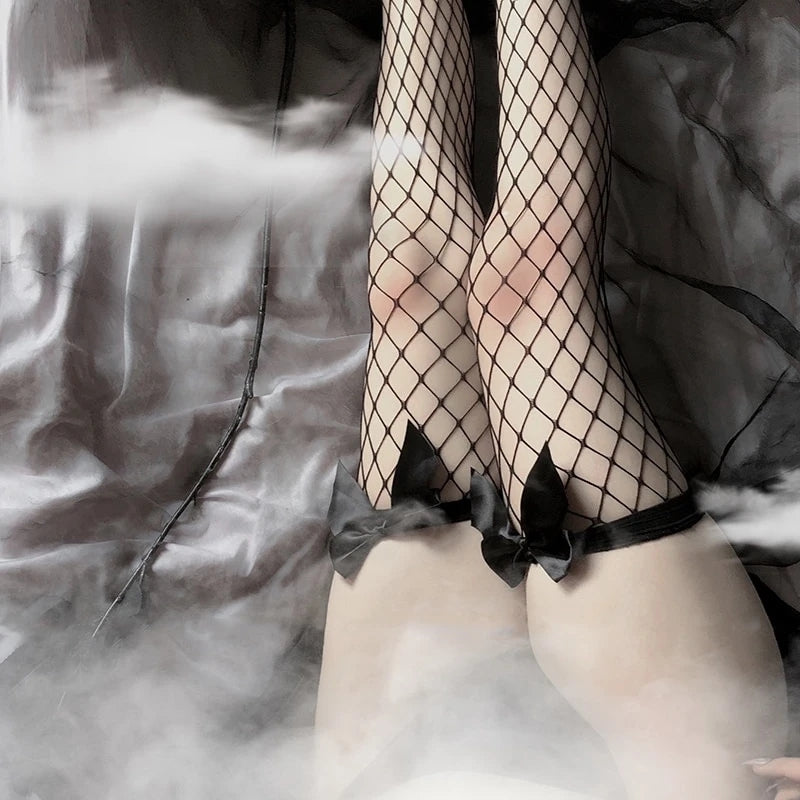 Bestkawaii-bow-over-the-knee-fishnet-stockings