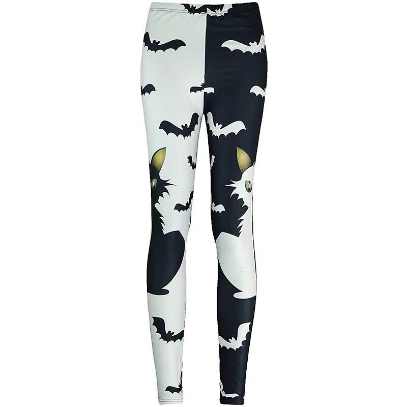 Bestkawaii-halloween-cat-and-bats-print-leggings