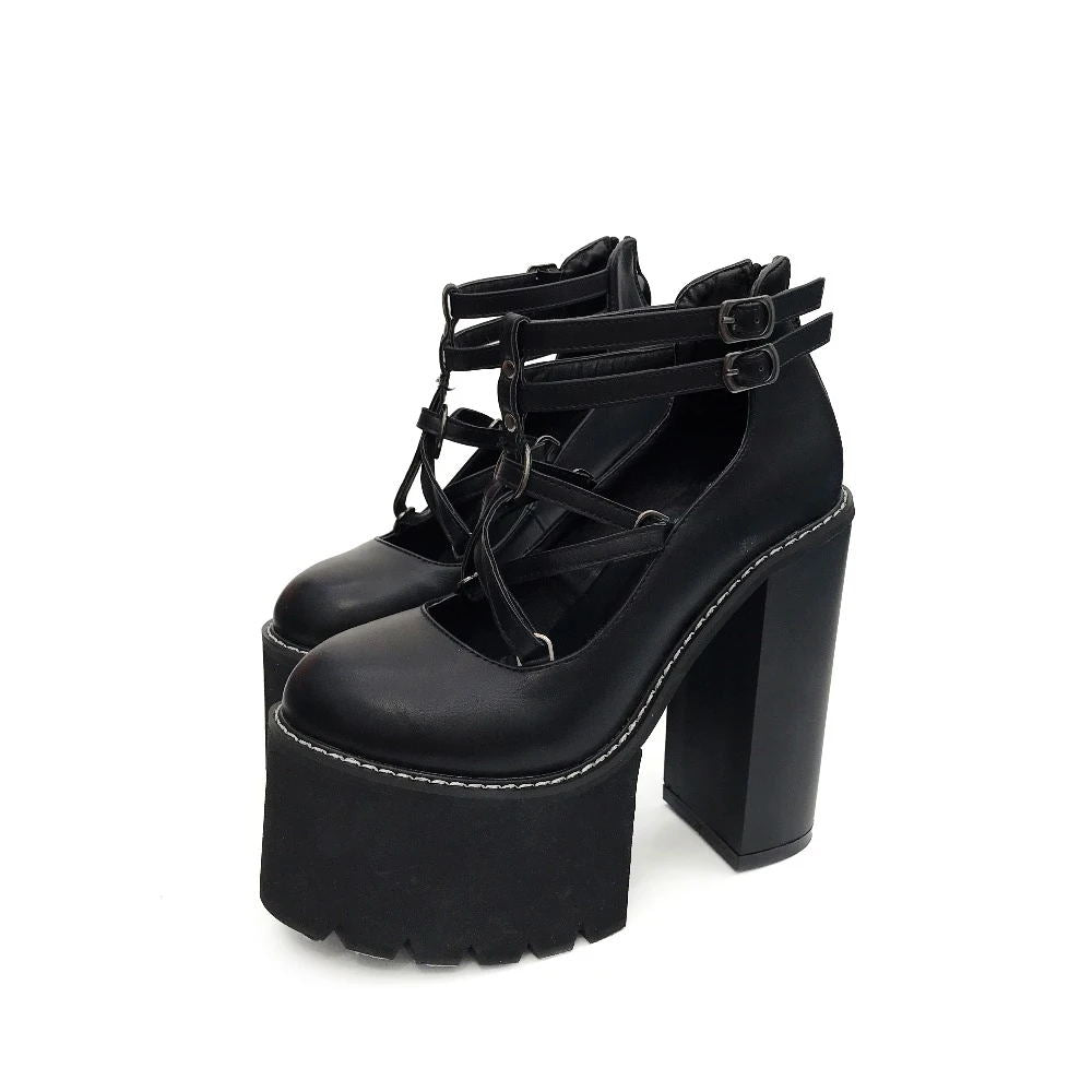 Bestkawaii-pentagram-strap-pumps-platform-shoes