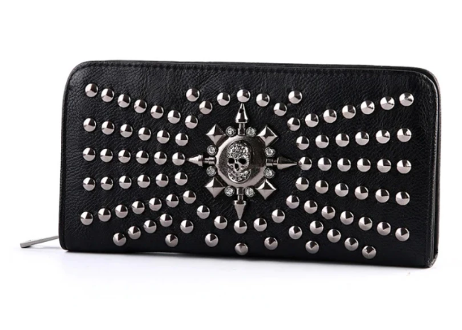 Bestkawaii-rivet-skull-wallet