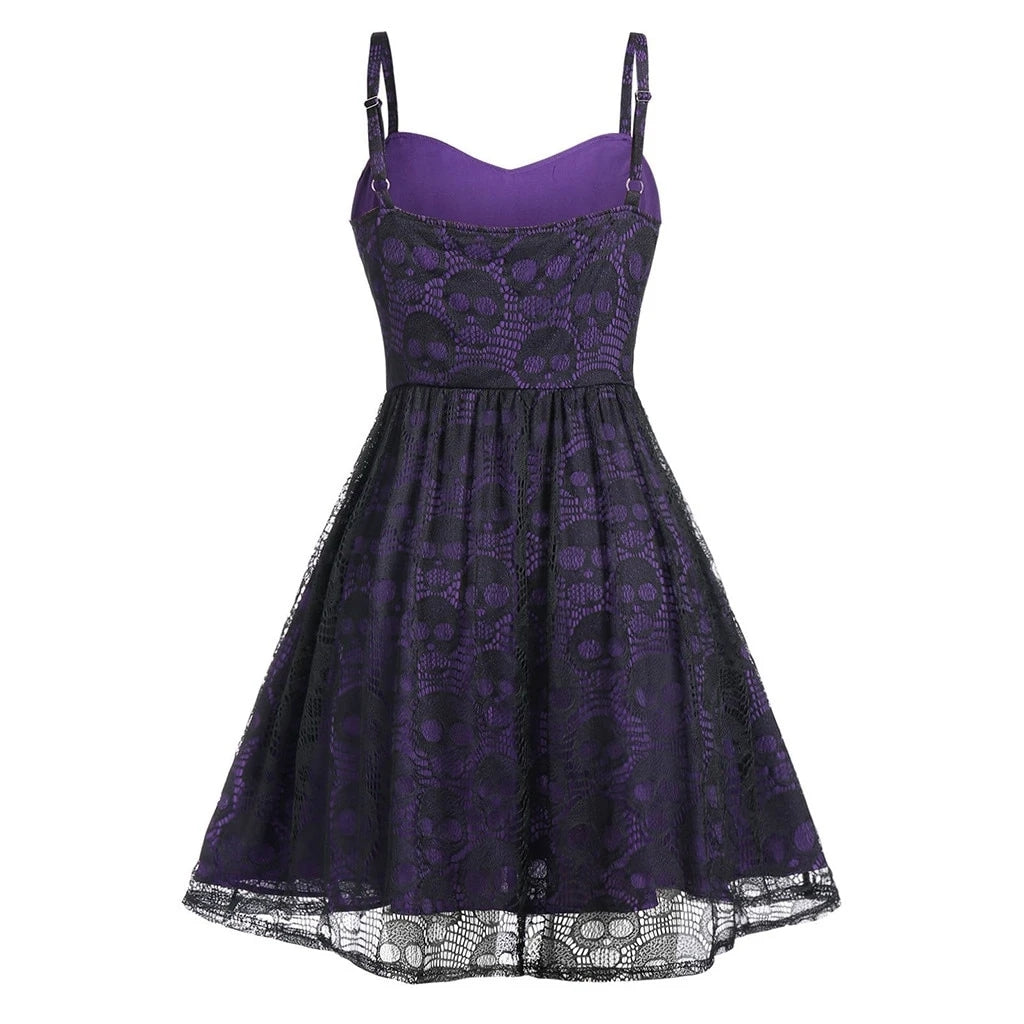 Bestkawaii-skulls-lace-mesh-sling-strap-dress