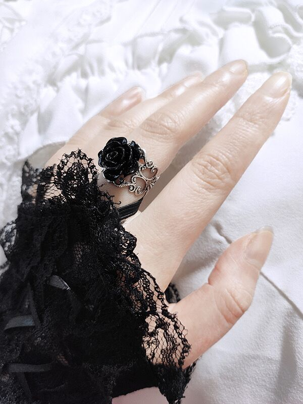Bestkawaii-vintage-rose-adjustable-ring