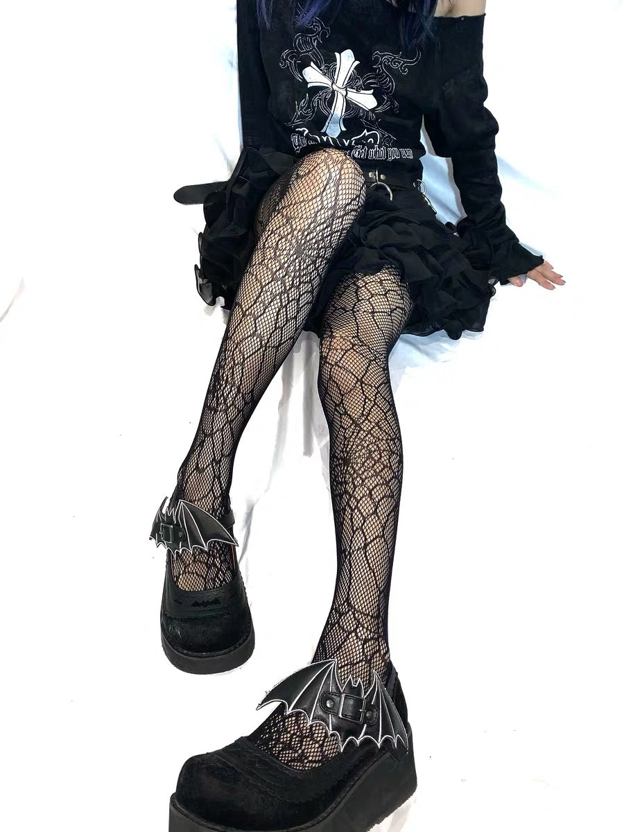 Dark Lolita Spider Web Tights Sock