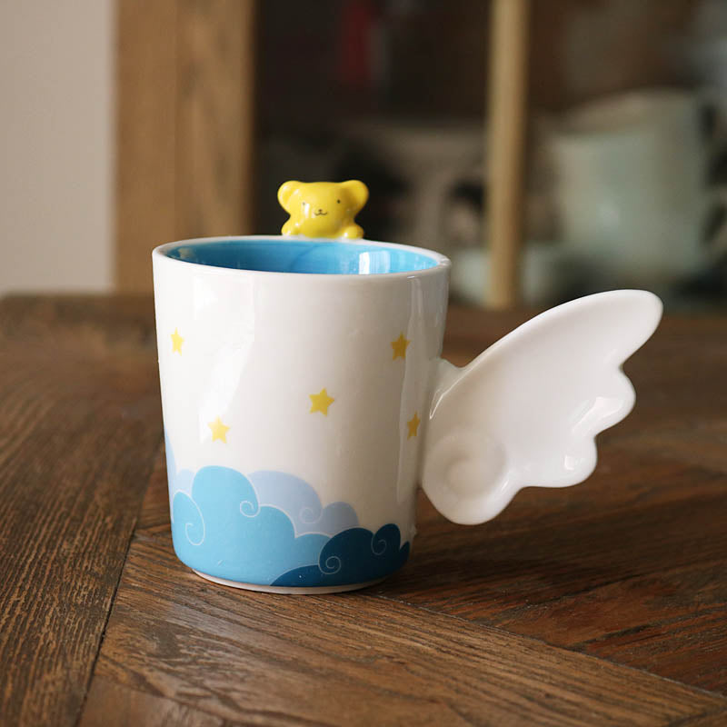 Best Kawaii - Handmade Flying Yellow Bear Mug