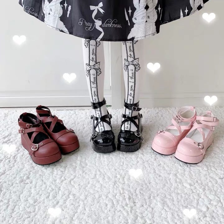 Belts Lolita Platform Shoes