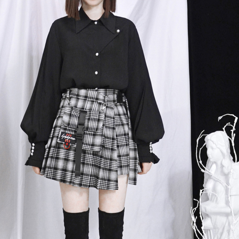 Best Kawaii - Gothic Irregular Skirt