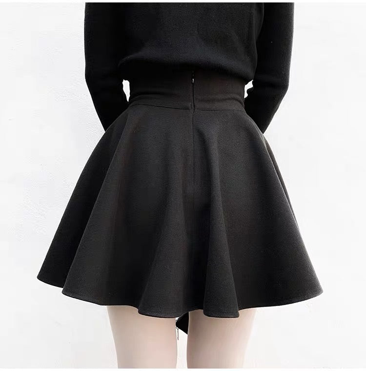 High Waist Black Mini Skirt