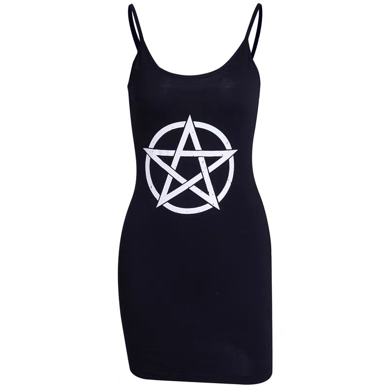 bestkawaii-Sexy Sleeveless Pentagram Shirt