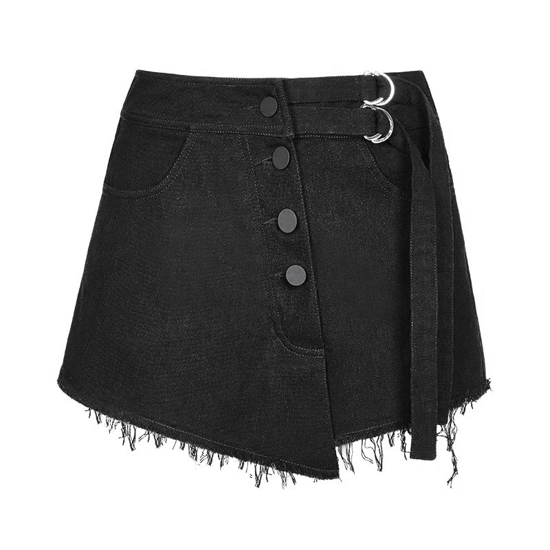 Irregular Bandage Shorts Skirt