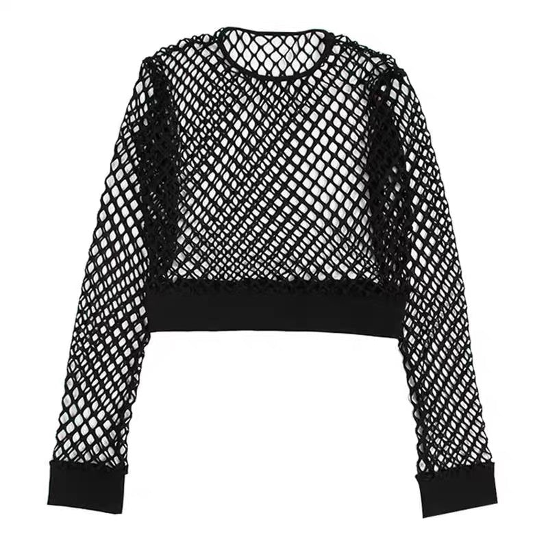 Mesh Long Sleeves Shirt