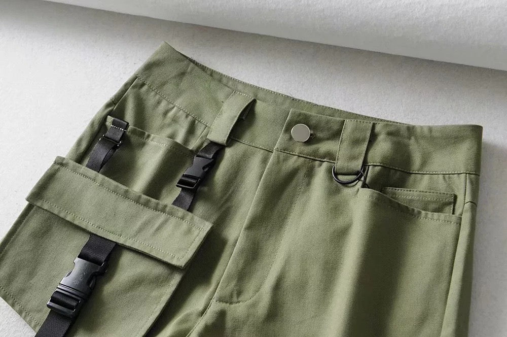 Goth Casual Cargo Shorts With Big Pocket