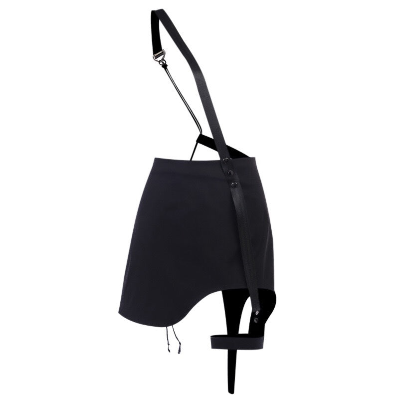 Bestkawaii-Irregular-Single-Strap-Leggings-Drawstring-Skirt