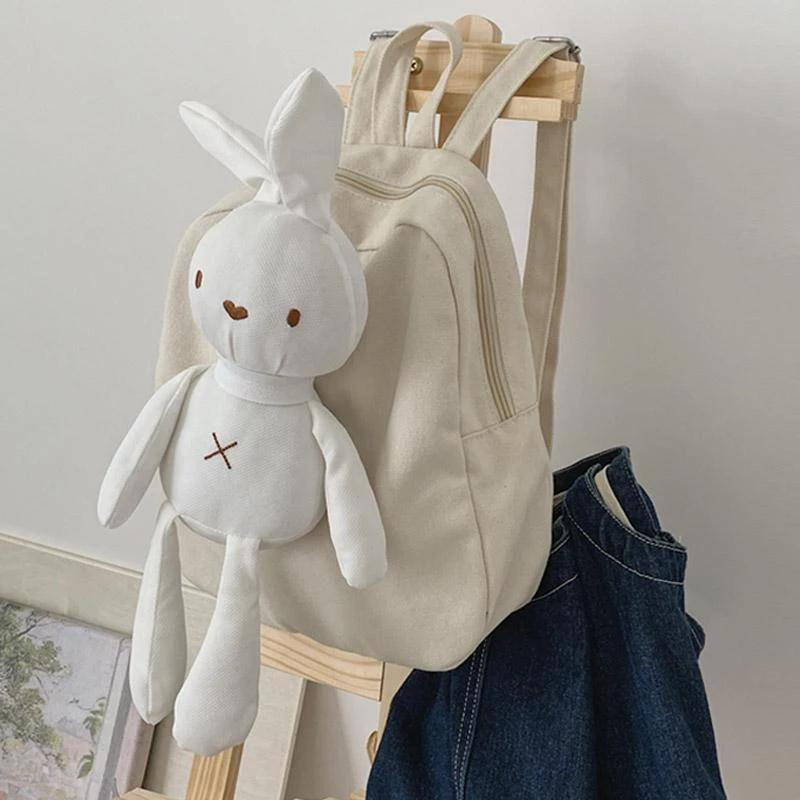 Best Kawaii - Kawaii Canvas Bunny Backpack
