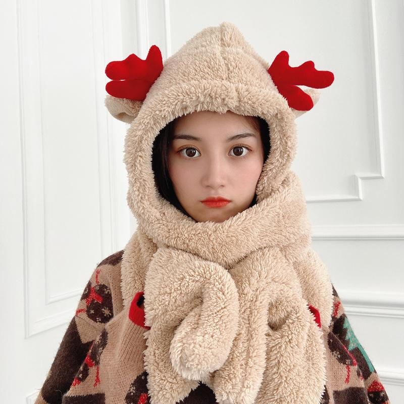 Best Kawaii - Kawaii Deer Antler Hat Scarf