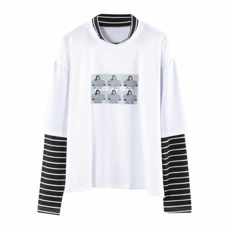 Six-Girls-Print-2-Piece-Stripe-Shirt