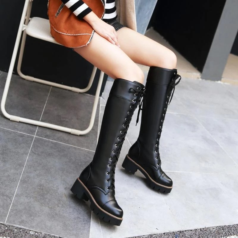 Best Kawaii - Vintage Knee High Martin Boots