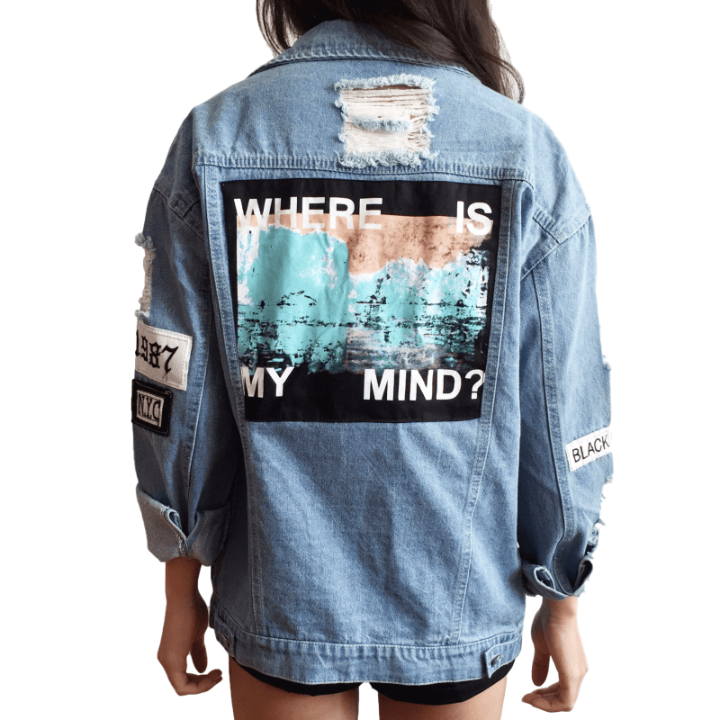 Best Kawaii - Where Is My Mind Denim Jacket