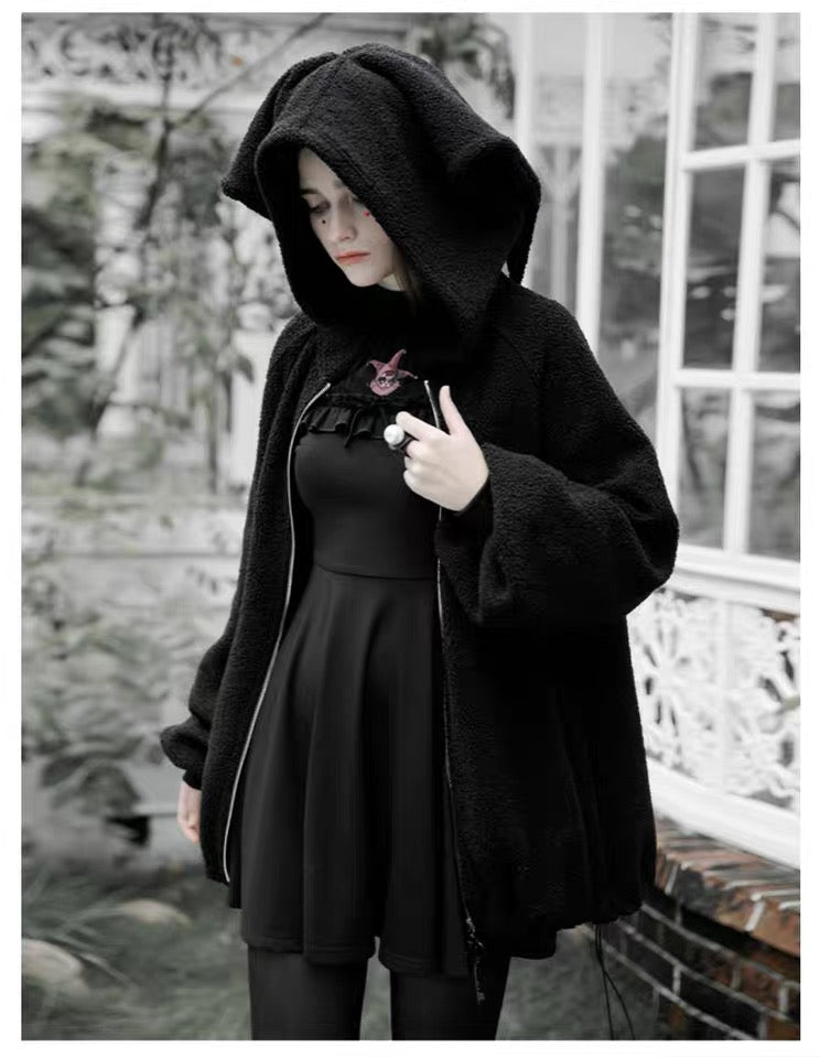 bestkawaii-magic-bunny-jester-hooded-plush-coat-punk-grunge-alternative-fashion-