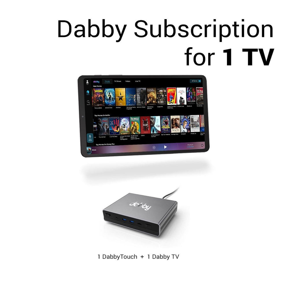Dabby Subscription for 1 TV
