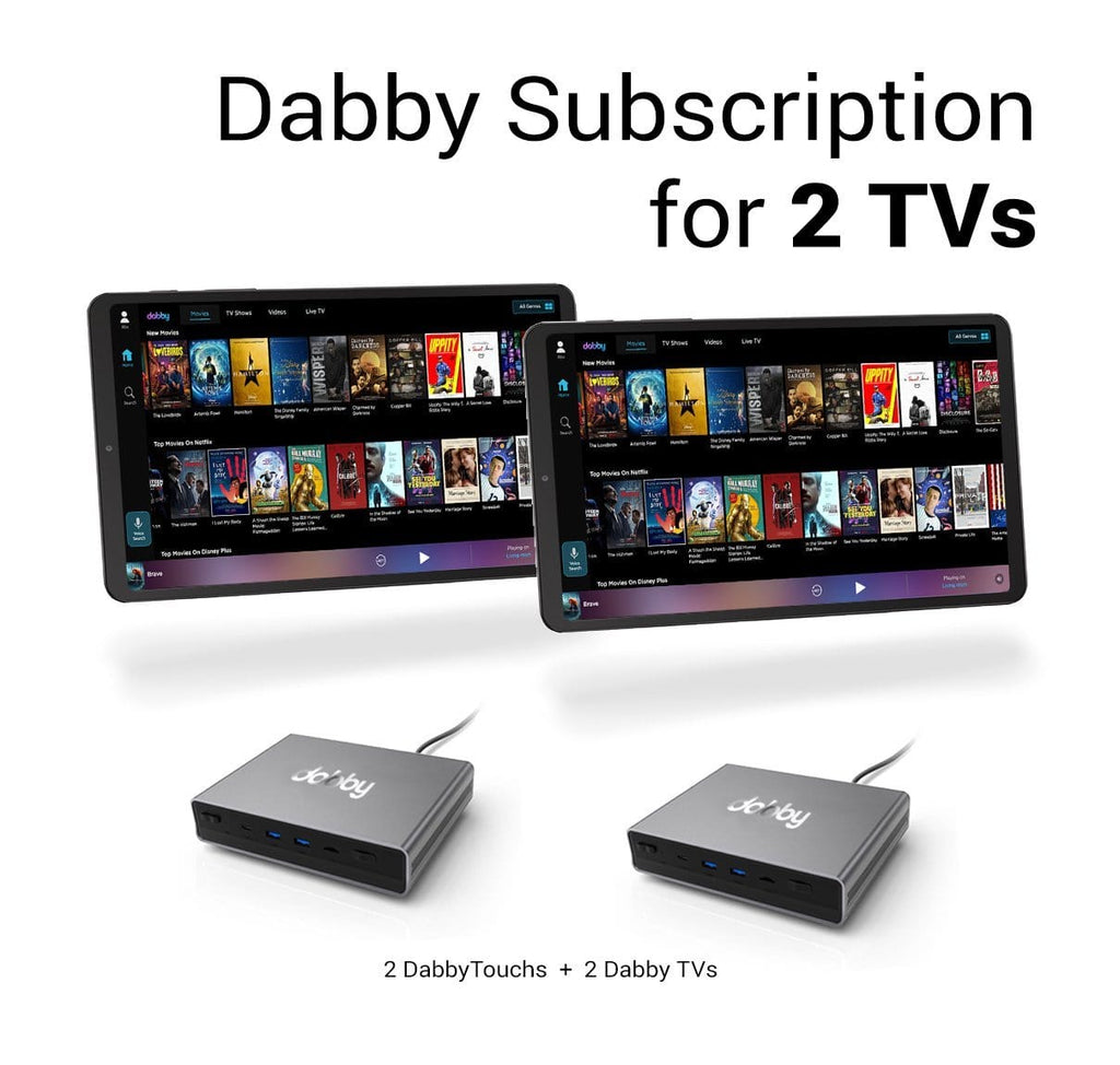 Dabby Subscription for 2 TVs