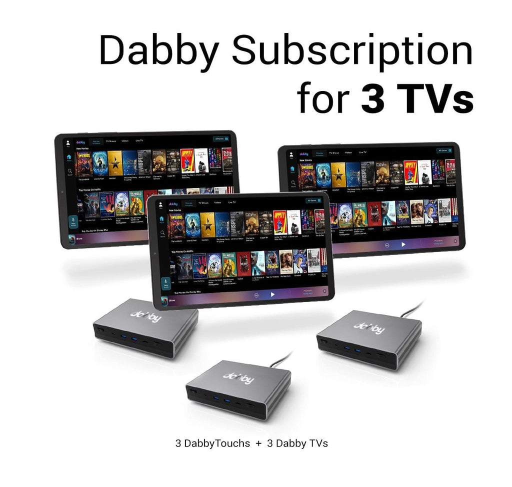 Dabby Subscription for 3 TVs