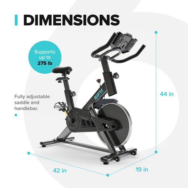 Indoor Exercise Bike with Phone and Tablet Mount