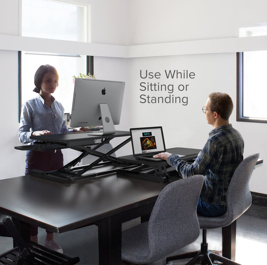 Height Adjustable Standing Desk 32 inch use while sitting or standing