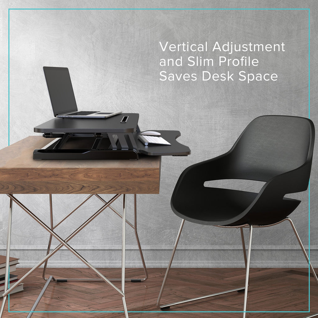 Height Adjustable Standing Desk 32 inch vertical adjustment and slim design saves desk space
