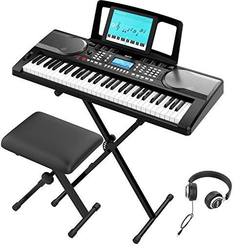 Portable 61 Key Electronic Piano Keyboard full set up demonstration