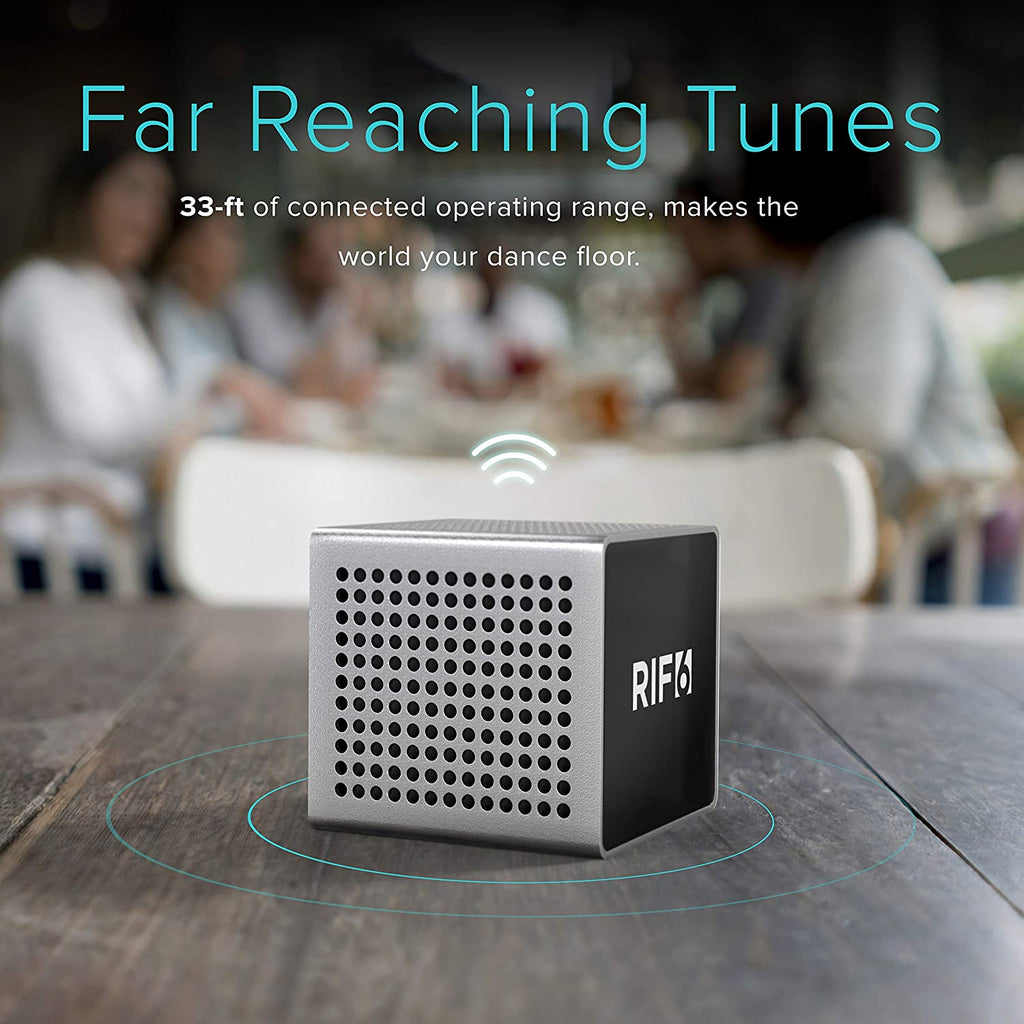 bluetooth cube projector companion speaker 33 foot operating range