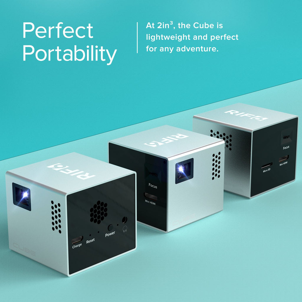 cube portable full led projector perfect portability