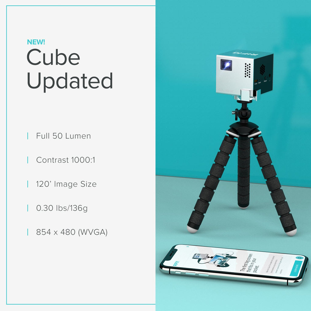 cube portable full led projector updated specifics