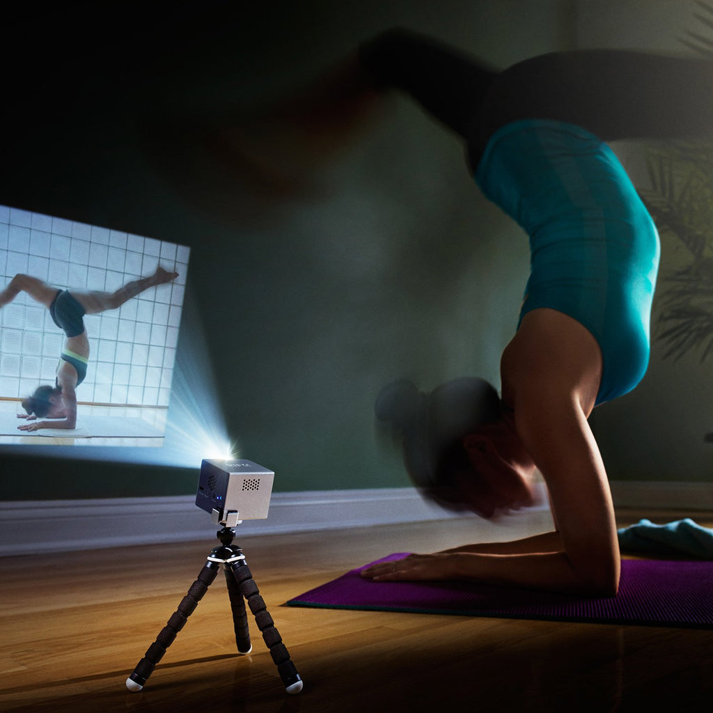 cube portable full led projector yoga pose projection