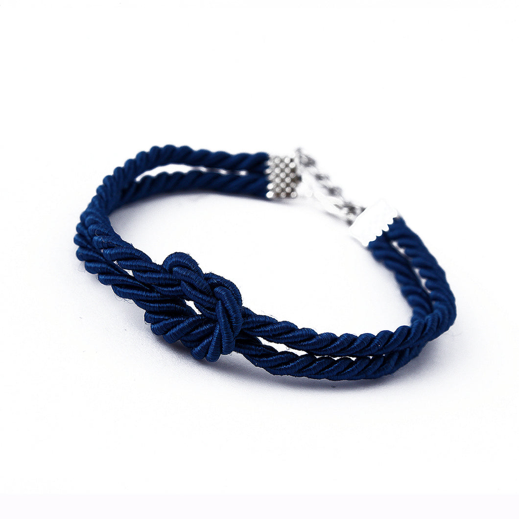 Blue Shibari bondage rope inspired bracelet - hand made to order in your perfect size and colour! Perfect gift for a BDSM bondage fan