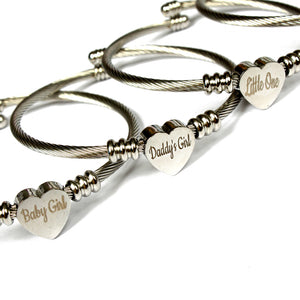 BDSM jewellery for submissives. Custom engraved fetish bracelet for daddy's girl. Perfect for DDLG abdl submissives. Discreet ownership