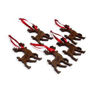 DDLG custom Christmas ornament - reindeer shaped ddlg custom Christmas decorations for your tree!