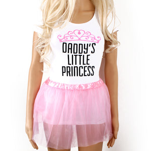 Ddlg Daddy's little princess t-shirt with pink glitter tiara design