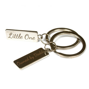DDLG keyring daddy's girl keychain gift. Perfect gift for little ones, baby girl, middles, daddy dom, princess or ABDL