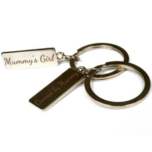 Load image into Gallery viewer, DDLG keyring daddy's girl keychain gift. Perfect gift for little ones, baby girl, middles, daddy dom, princess or ABDL