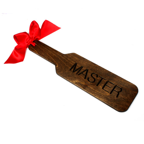 BDSM wooden spanking paddle - custom fetish punishment paddle engraved with MASTER