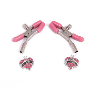 Beginners BDSM nipple clamps - daddy's girl ddlg design adjustable nipple clamps. Perfect for DDLG abdl and subs