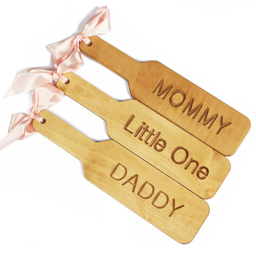 Ddlg BDSM wooden spanking paddle - custom fetish punishment paddle engraved with DADDY perfect for Daddy's girl