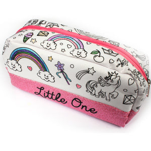 Colour your own pencil case! Custom little one pencil case that you can decorate yourself. Perfect gift for littles, DDLG & ABDL. Unicorn