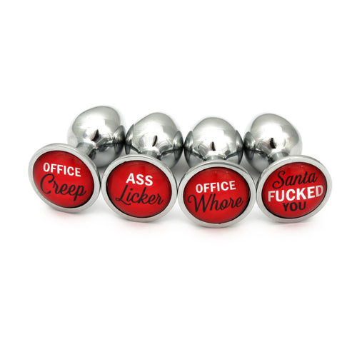 Secret Santa Butt Plugs - Embarrass your work colleagues with our explicit buttplugs, and best of all nobody will know it's from you!