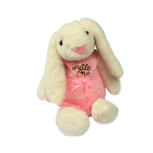 Little one customised ddlg stuffie Bunny! Personalised soft toy stuffie for a little. Comes with cute pink dress with gold quote
