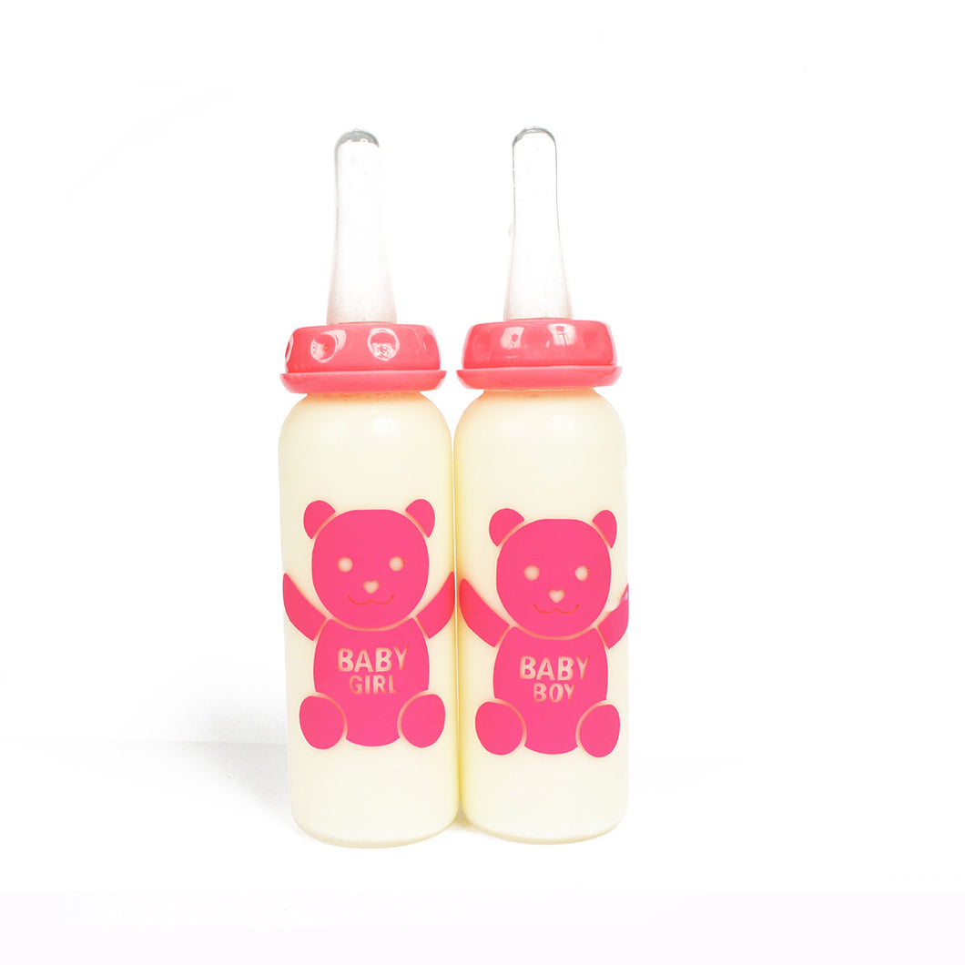 Adult baby bottles - customised abdl bottle with long teat, perfect for adult mouths! Baby girl and baby boy teddy bear design.