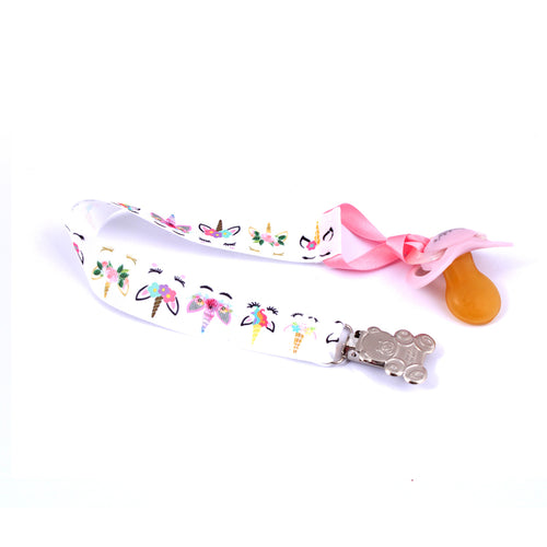 Sleeping unicorn ddlg pacifier clip - Abdl soother chain